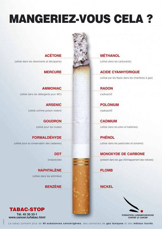 Affiche anti-tabac Luxembourg